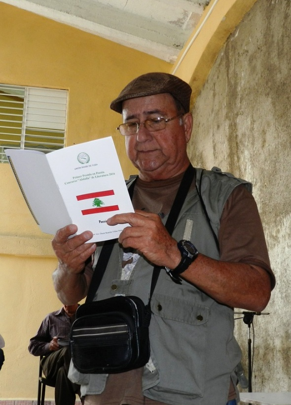 Oscar Ramón Viñas Ortiz, obsequió los poemas Gibrán Kahlil Gibrán y Gibrán vive