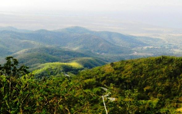 Por una peligrosa carretera se accede a Topes de Collantes, a 800 metros de altura sobre el nivel del mar