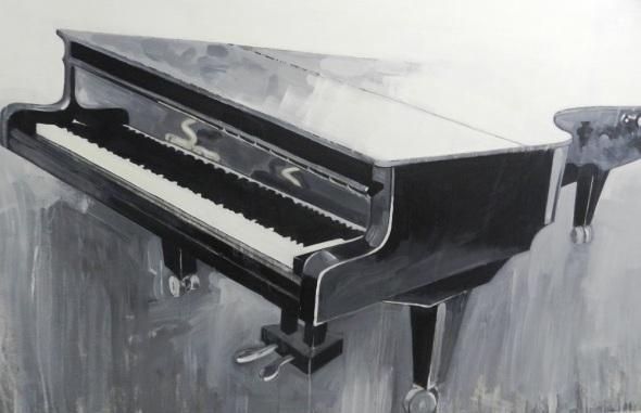 Titulo La tregua Silente. Mixta y Playwood. Dimensiones 120 x 180 cm. año 2017.