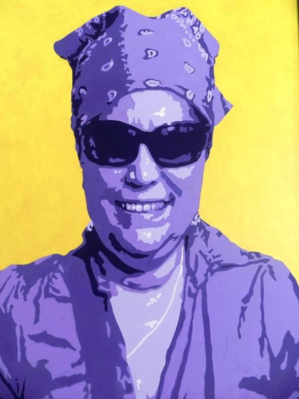 Autor Ileana Sánchez. Titulo Retrato de Ileana 2012. Dimensiones 130 x 162 cm