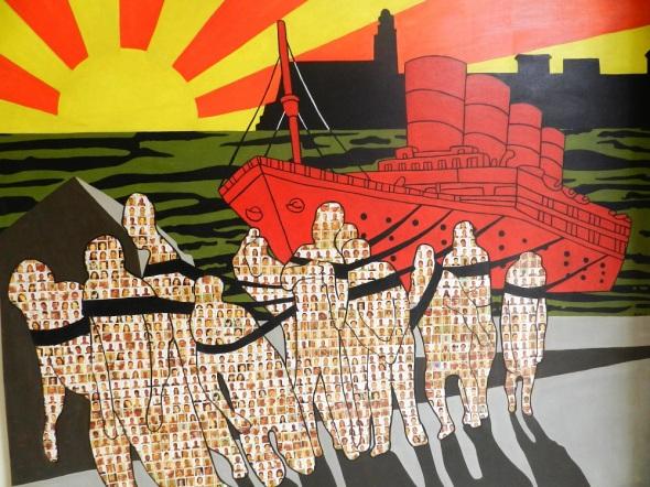 Autor Joel Jover Titulo La generación del Titanic III. 2013. Dimensiones 160 x 200 cm