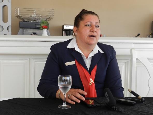 Annia Sarniento Benítez, de relaciones públicas del Hotel Brisas Santa Lucía