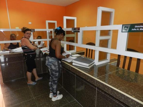 Atencion  por distritos Registro de la Propiedad en la ciudad de Camagüey