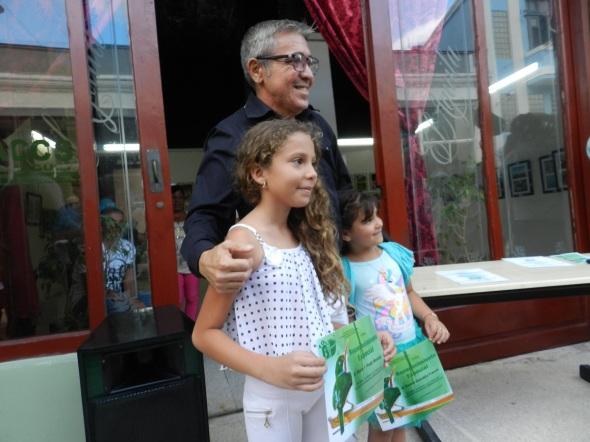 Las niñas Naomi Gonzalez Franes y María Fernanda Prado Montejo también expusieron sus fotos en la muestra