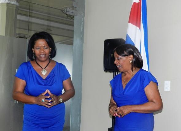 En la presentacion el Duo Voces interpretó Amor Camagüeyano