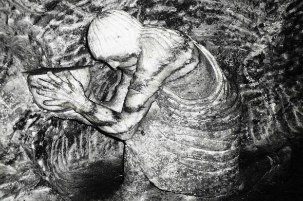 Obras esculpitadas en las paredes de sal