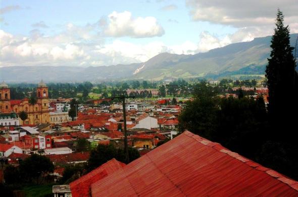 Una vista de Zipaquirá