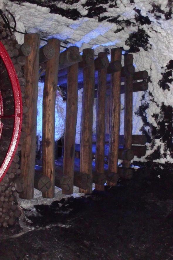 Uno de los túneles de la mina de sal