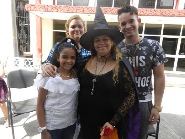 Belkis Reyes Soto y su familia