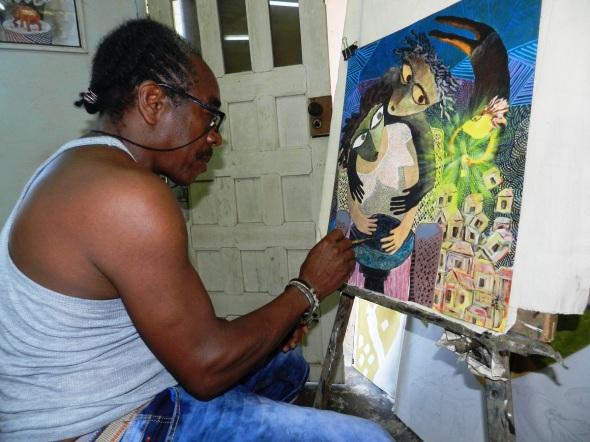 Los Doopis, personajes pintorescos del artista de la plástica Rodrick Dixon Gently