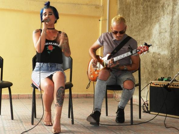 Margarita Morales, del grupo cubano de funk-rock alternativo Qva Libre