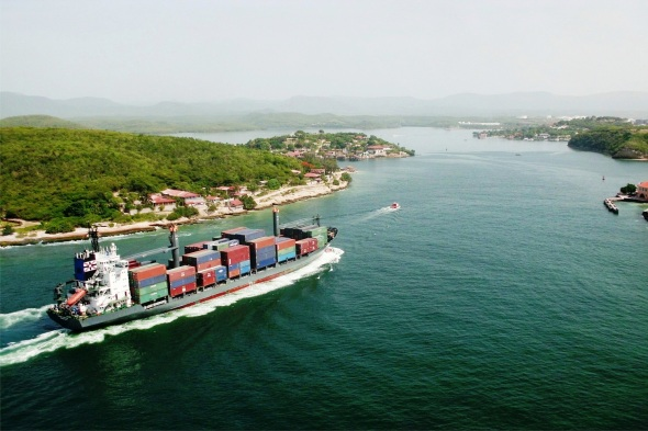 Bahía de Santiago de Cuba, vista desde El Castillo de San Pedro de la Roca, declarado por la UNESCO en 1997 Patrimonio de la Humanidad.