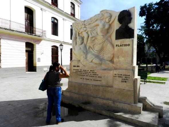 Alegoría al poeta Plácido, La Habana