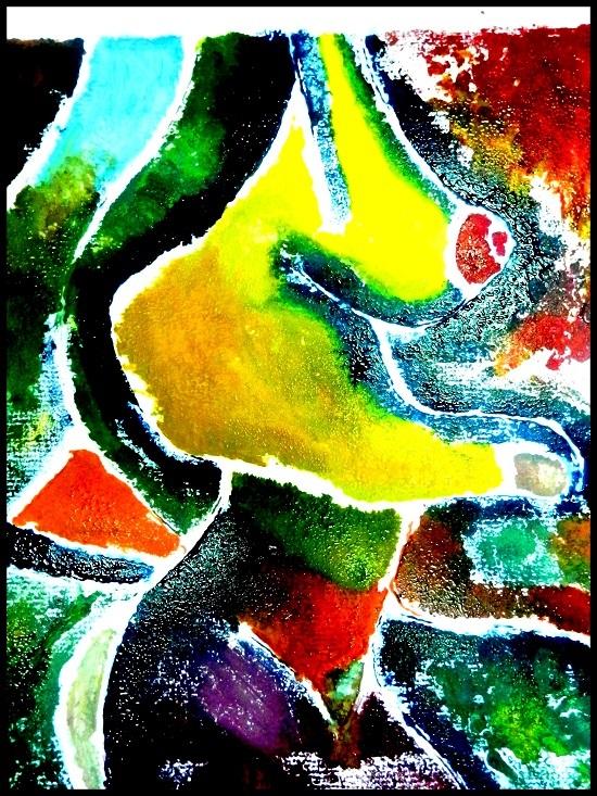 René de la Torre Aguilar reflejó, en su grabado a color, a la mujer