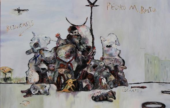 Recuerdos de la primaria.2017. óleo sobre lienzo. 130 x 200 cm.