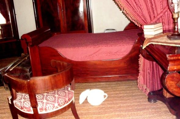La cama de Simón Bolivar en la Casa Quinta