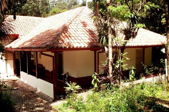 Uno de los exteriores de la Casa Quinta Bolivar