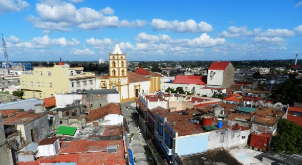 Vista panorámica que se ofrece de la ciudad de Camagüey desde el Gran Hotel