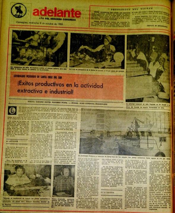 Periódico Adelanta, miércoles 8 de octubre de 1980. Pág. 4.
