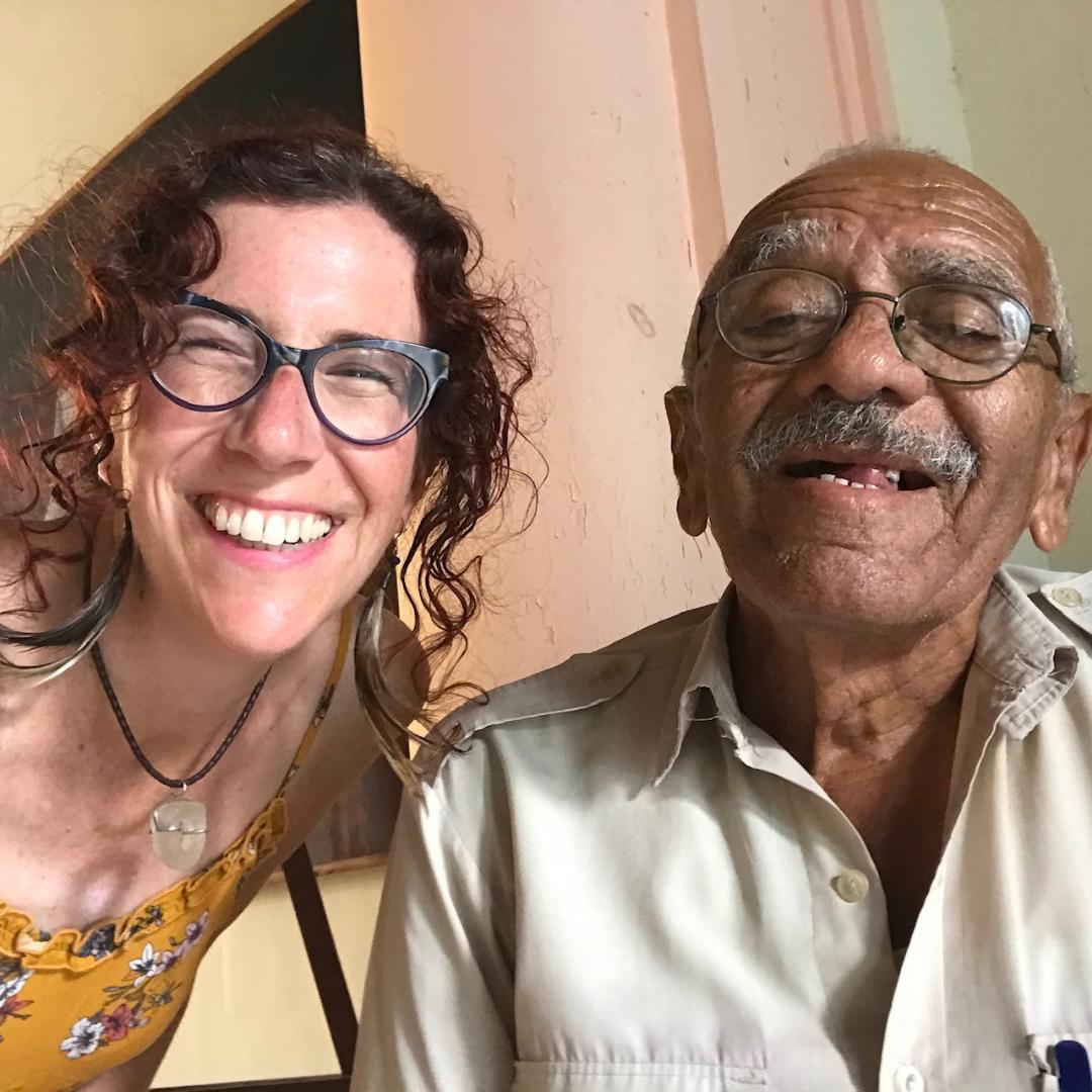 Juan Jacinto Wambrug Sánchez y la artista estadounidense de la plástica Laura White Carpenter