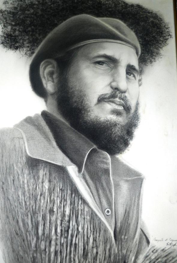 Retrato de Fidel inspiración de Roberto Estrada AlonsoRetrato de Fidel inspiración de Roberto Estrada Alonso